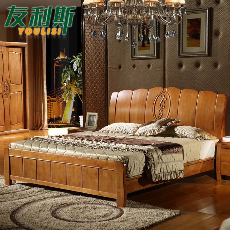 Awesome Buy Friends of leith modern new chinese wood bed 1 5 m 1 8 m high twin bed storage box bed oak bedroom furniture in Cheap Price on mibaba In 2019 - Beautiful oak bedroom sets Top Design