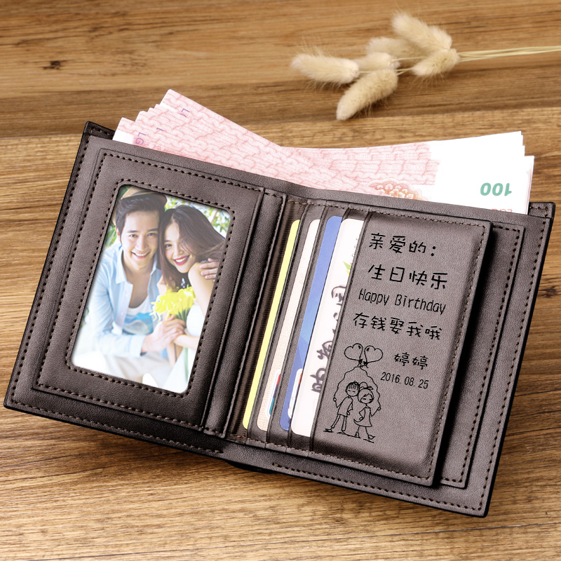 Buy Gift Male Friends Husband Practical Men Father Dad Kiss Creative Diy Custom Lettering Wallet Birthday In Cheap Price On Malibaba
