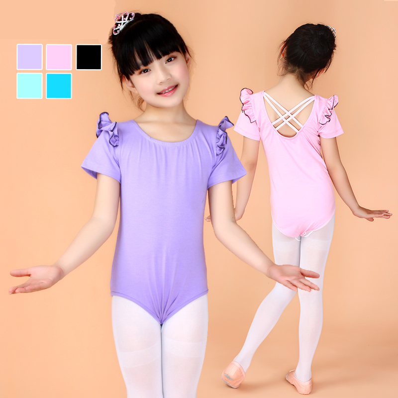 af7e952f1 Buy Girls clothes and children's dance clothing short sleeve leotard  costumes siamese little children ballet skirt suits grading in Cheap Price  on ...