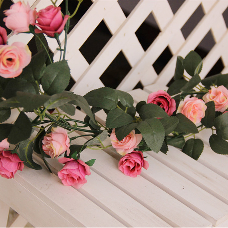 Buy good rhyme autumn rose flower vine artificial flowers artificial buy good rhyme autumn rose flower vine artificial flowers artificial flowers silk flowers dried floral decoration living room air conditioning pipe mightylinksfo