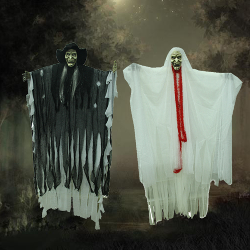 halloween decorations halloween props halloween decorations halloween haunted house bar supplies luminous door hanging door hanging ornaments spider pumpkin