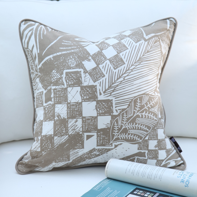 Han Still New Chinese Minimalist Large Sofa Cushion Covers Pillow Without The Core Cotton Cover Lumbar By Package In