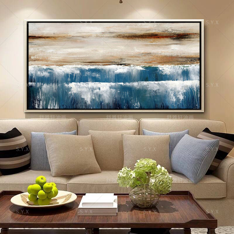 Buy Handmade Oil Painting Decorative Painting Modern Living Room