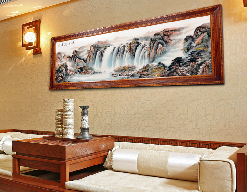 Has A Long History Of Plaque Woodcut Painting Chinese Decorative The Living Room Wooden Carvings Mahogany Furniture With Paint