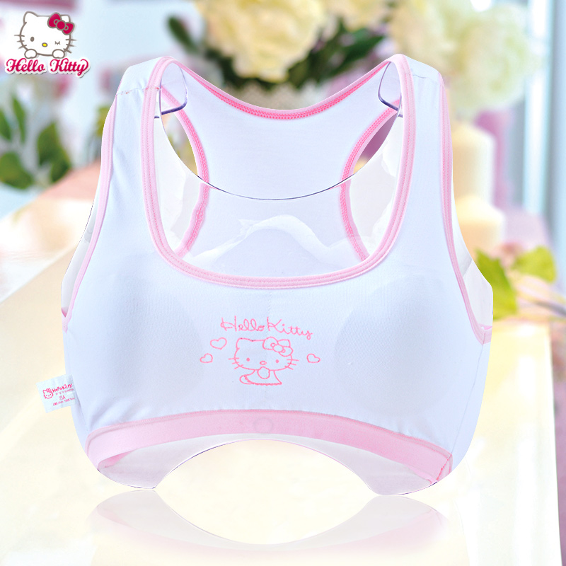 f3c9c11c3d3a9 Buy Hello kitty girls underwear cotton bra developmental students vest  sweat shipped move running underwear summer in Cheap Price on m.alibaba.com