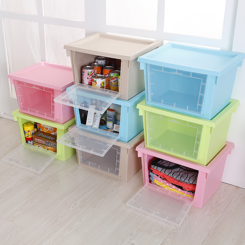 Buy Honey Honey Flower Transparent Window Covered Storage Box Plastic  Sorting Boxes Of Clothing Storage Box Large Double Open Box In Cheap Price  On ...