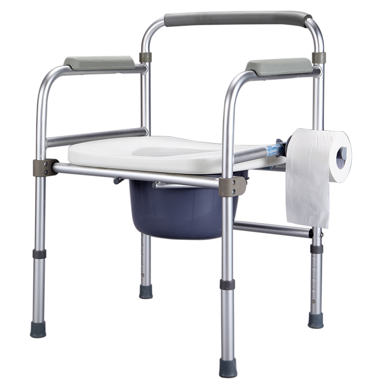 Buy Iliad elderly aluminum alloy folding commode chair commode ...
