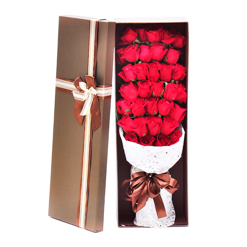 Buy Jiuquan City Flower Delivery To Send His Girlfriend Confession Birthday Gift Bouquet Of Red Roses Nationwide Florist Home In Cheap Price On
