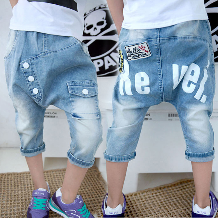 Buy Kids 2016 new boys jeans big boy pants children pants shorts summer  pant harem pants thin section in Cheap Price on Alibaba.com
