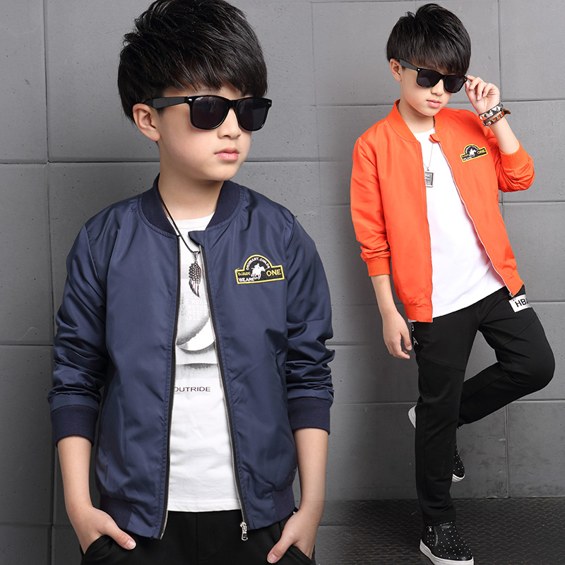 d1d4c39b2 Buy Kids boys coat autumn 2016 new children 7 children 8 9 big boy ...