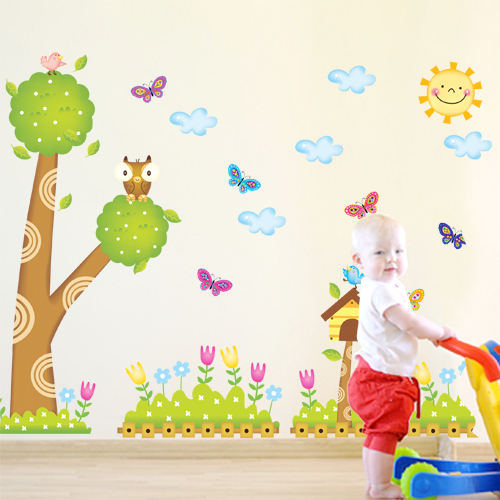 Buy Kindergarten class classroom layout wall stickers children's ...