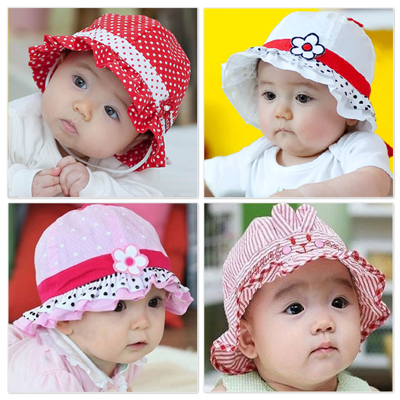 cb1405a2749 Korean version of the spring and summer children s bucket hats baby hats  for men and women baby cotton sun hat sun hat visor cap child