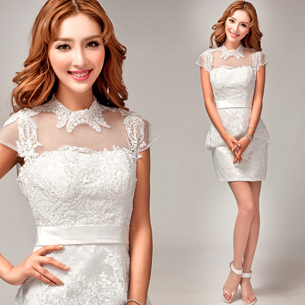 Korean White Lace Bridal Wedding Engagement Gown Dress Short Section Of Small Paragraph Wear 8269 In Price On M Alibaba