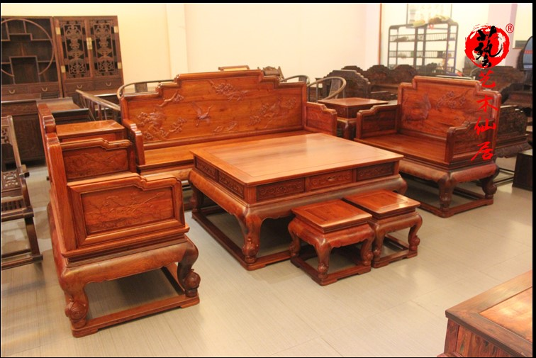 Buy Large Fruit Pear Sandalwood Myanmar Pear White Song Crane Sickness Mahogany  Furniture Wood Living Room Sofa Sofa Eight Sets In Cheap Price On  M.alibaba. ...