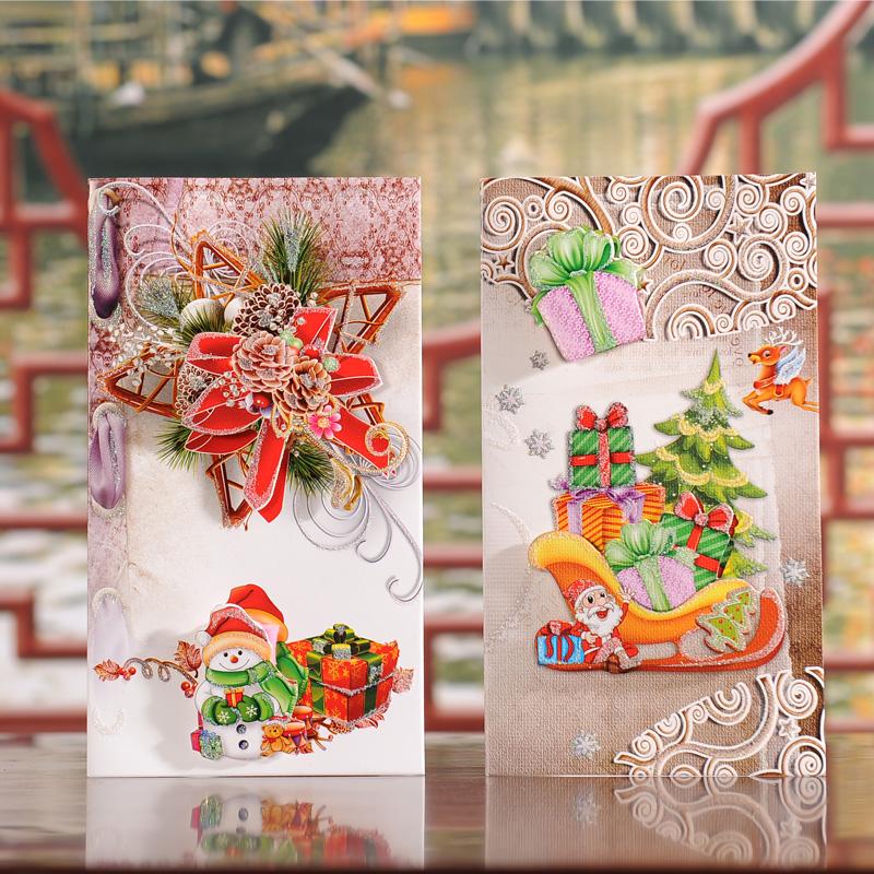Buy Large three-dimensional christmas eve greeting cards christmas ...