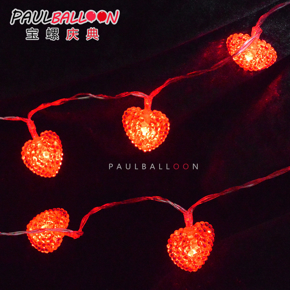 Lo Po Battery 4 M Plug 10 Led Lantern String Of Red Heart Valentine 39 S Day Confession Arranged Marriage Room Lights In Price On Alibaba