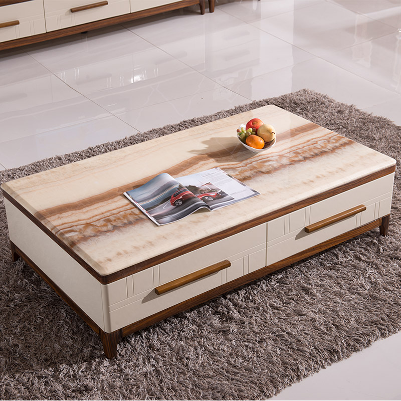 Buy Long Yin Marble Coffee Table Minimalist Modern Coffee Table Storage Coffee Table Small Apartment Painted Wood Coffee Table Cabinet Combination In Cheap Price On Alibaba Com