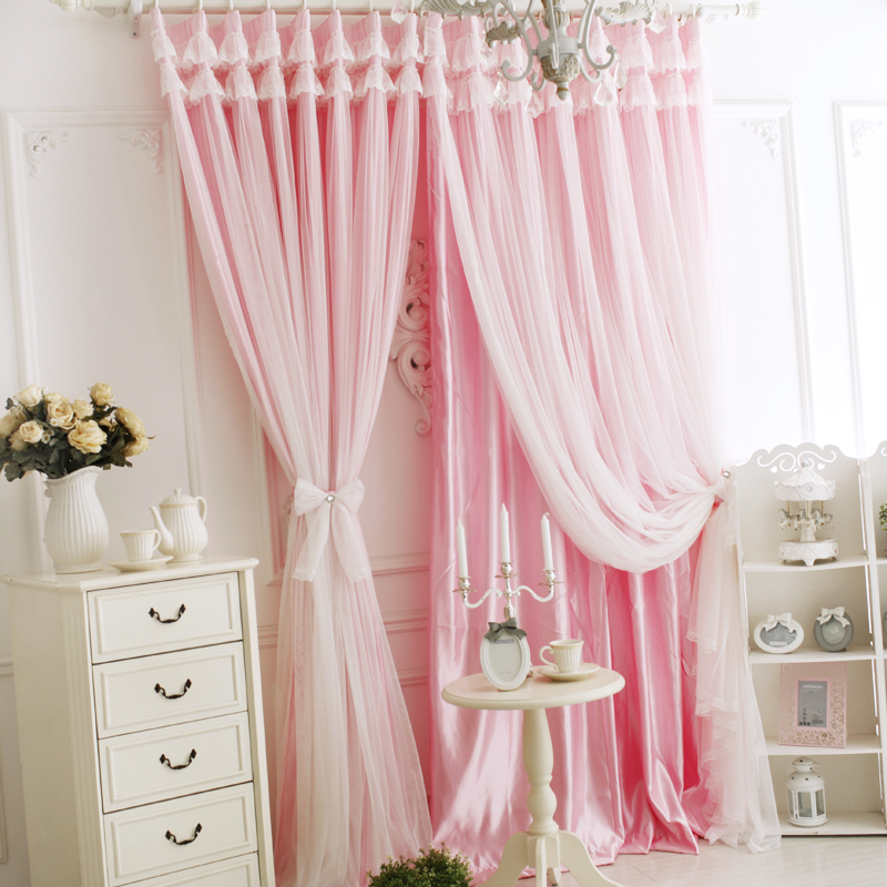 Buy Love child square princess lace korean custom curtains living ...