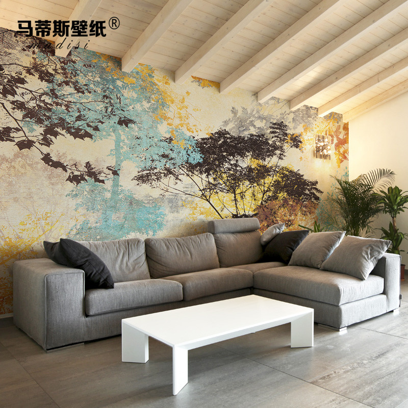 Matisse American Abstract Tree Green Wallpaper Seamless Mural Bedroom Living Room Tv Background Wall Paper Covering In Price On M Alibaba