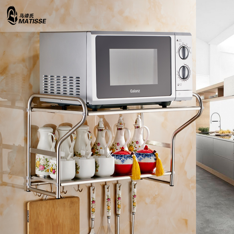 Recommended For You Kitchen Shelf Microwave Oven Bracket Wall 304 Stainless Steel