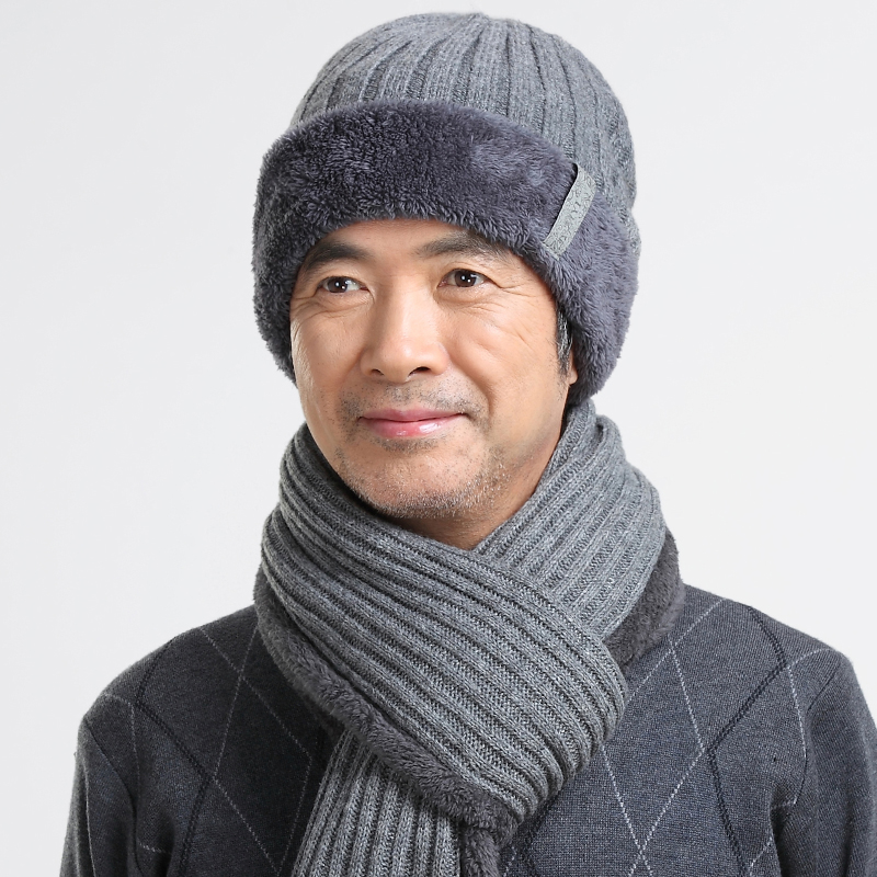 Buy Middle-aged middle-aged mens wool hat knitted hat autumn and winter dad  elderly male winter hat wool cap hat scarf in Cheap Price on Alibaba.com 683babbfb83