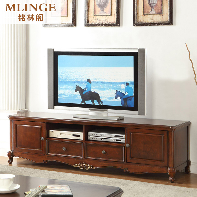 Ming Lin Kok American Country European Solid Wood Frame 2 M Storage  Cabinets Living Room Tv Cabinet Tv Cabinet Tv Cabinet Furniture