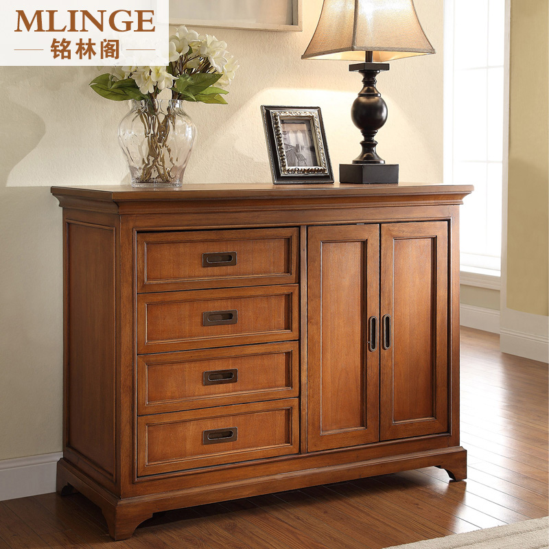 Ming Lin Kok Entrance American Group In All Solid Wood Modern Minimalist  Furniture Bedside Cabinet Lockers Chest Of Drawers Three Four Five Six Doo  Doo ...