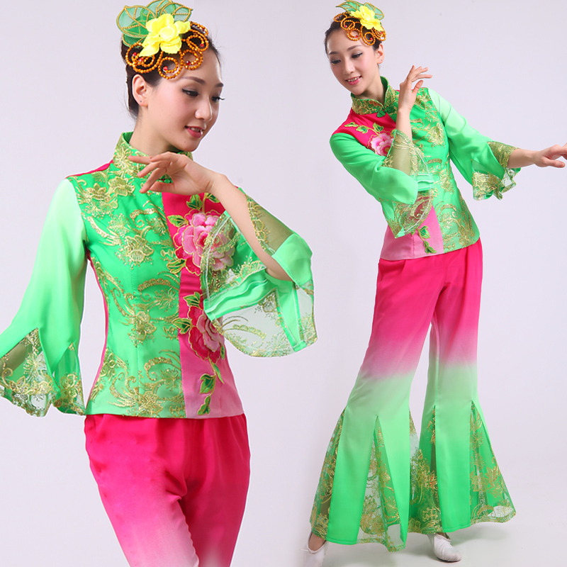 8eba6c6d69b6 Buy Modern dance costumes younger fan dance costume stage costumes national costumes  dance clothes drum dance costume dress costumes female in Cheap Price ...