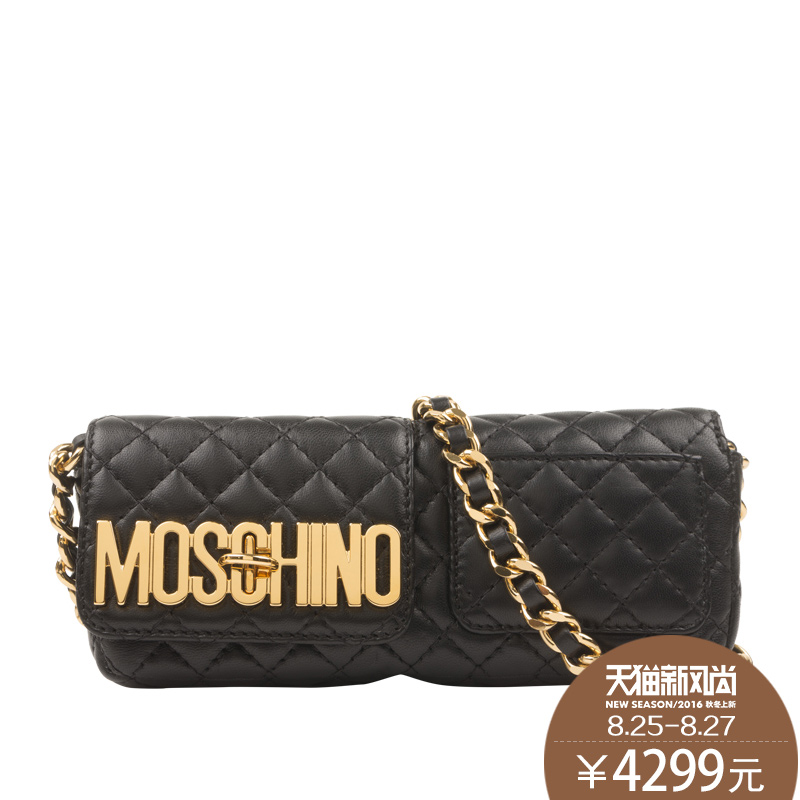 5bc27f33d0c Moschino/olivia buddha 2016 new quilted chain bag shoulder bag handbag long  section of a small bag A74278002