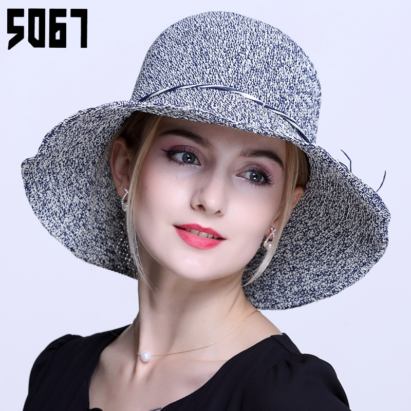 Buy Ms. visor hat beach hat female summer korean tidal large brimmed summer  sun side of the sea beach hat large brimmed straw hat in Cheap Price on ... a438050217d
