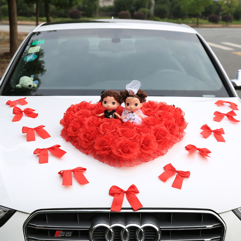 Buy New wedding supplies creative korean wedding car decoration kit ...