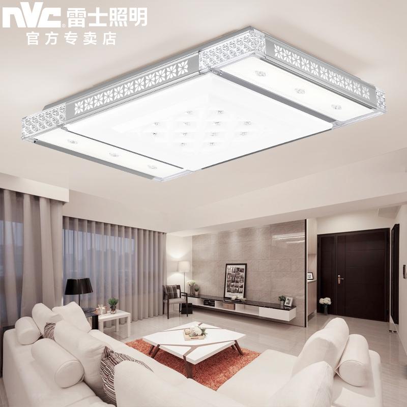 Nvc lighting led ceiling lights remote control cozy atmosphere rectangular  living room lamp crystal lamp modern minimalist lighting
