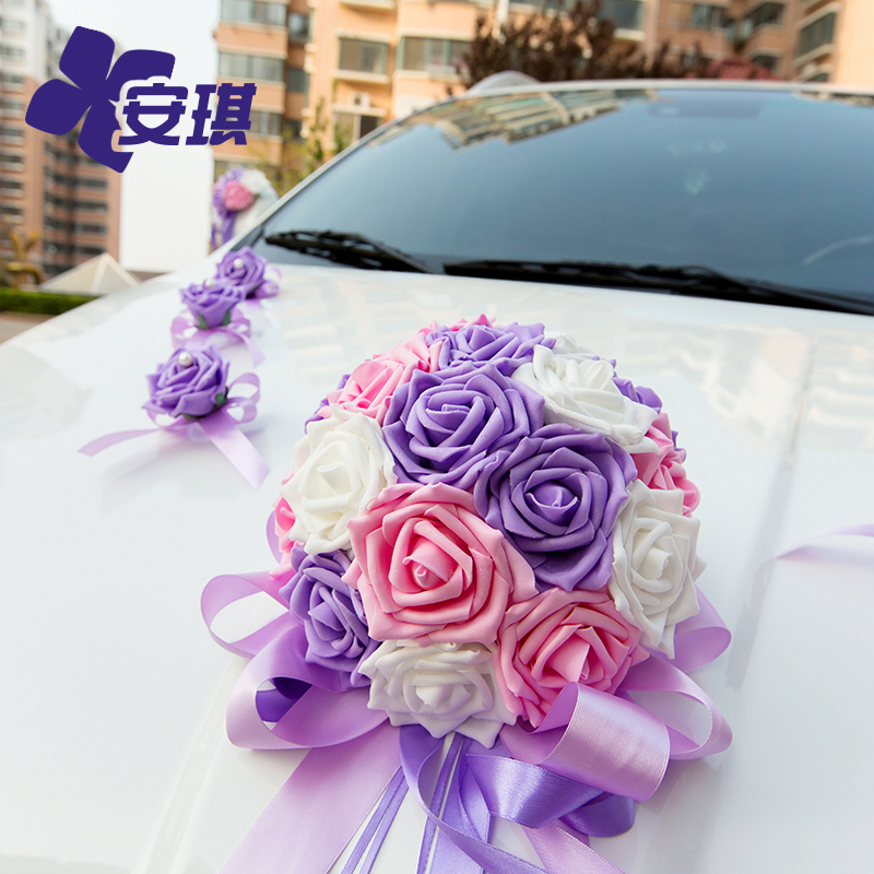 Buy pe multicolor roses ball deputy car decoration wedding car buy pe multicolor roses ball deputy car decoration wedding car decoration kit bow korean wedding ceremony wedding can be customized in cheap price on junglespirit Gallery