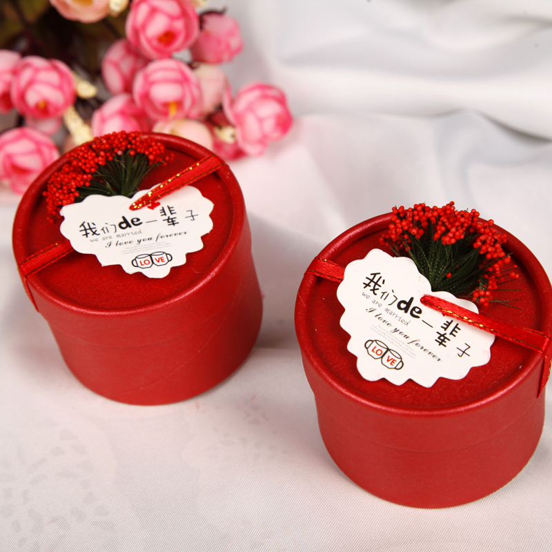 Personalized Custom Wedding Candy Box Supplies European Creative Cylinder In Price On