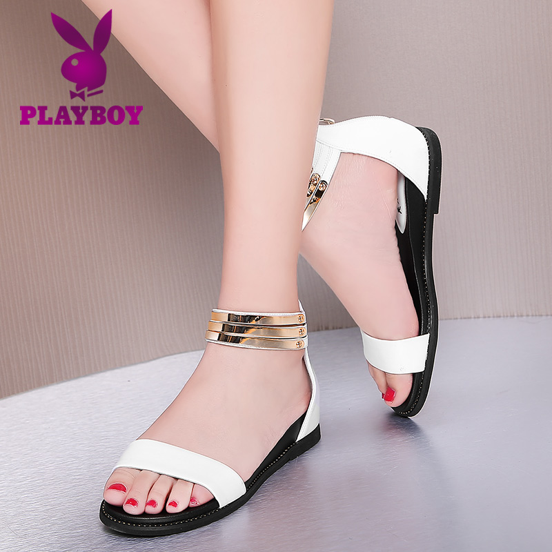 Buy Playboy Shoes 2016 Increased Within The Female Summer Casual And Simple Fashion Lady Flat Sandals Roman Sandals Women In Cheap Price On M Alibaba Com