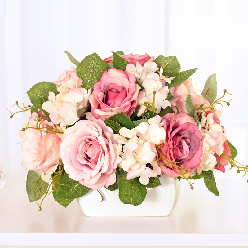 Buy plucking roses suit artificial flowers artificial flowers silk buy plucking roses suit artificial flowers artificial flowers silk flower hydrangea wedding decorative flowers artificial flowers floral table decorations mightylinksfo