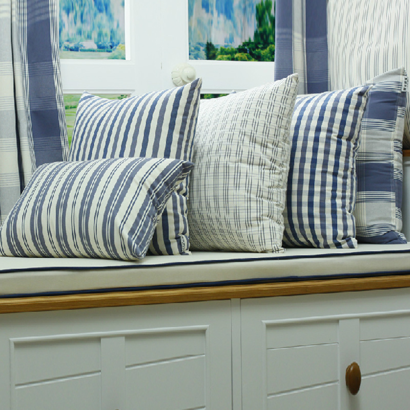 Tremendous Buy Priscilla Upscale Mediterranean Blue And White Striped Ibusinesslaw Wood Chair Design Ideas Ibusinesslaworg