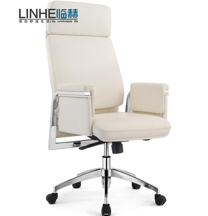 Pro He White Leather Chair Modern Office Swivel Boss Manager Ergonomic Home In Price On M Alibaba