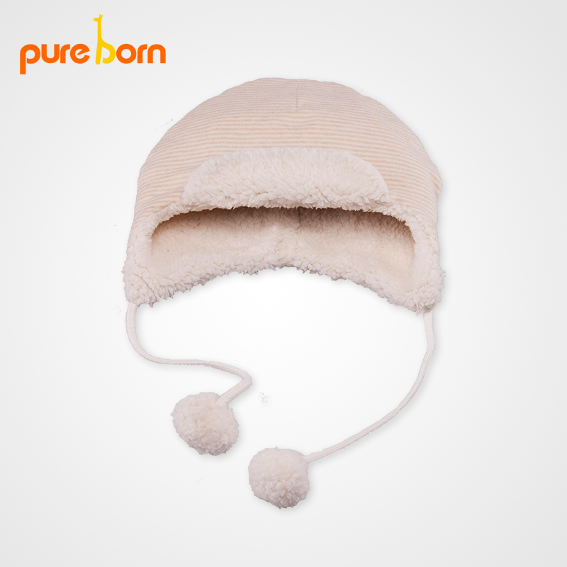 Buy Pureborn autumn and winter cotton baby hats baby hats for men and women  warm hat infant cap sleeve firstborn in Cheap Price on m.alibaba.com 5a420559e9