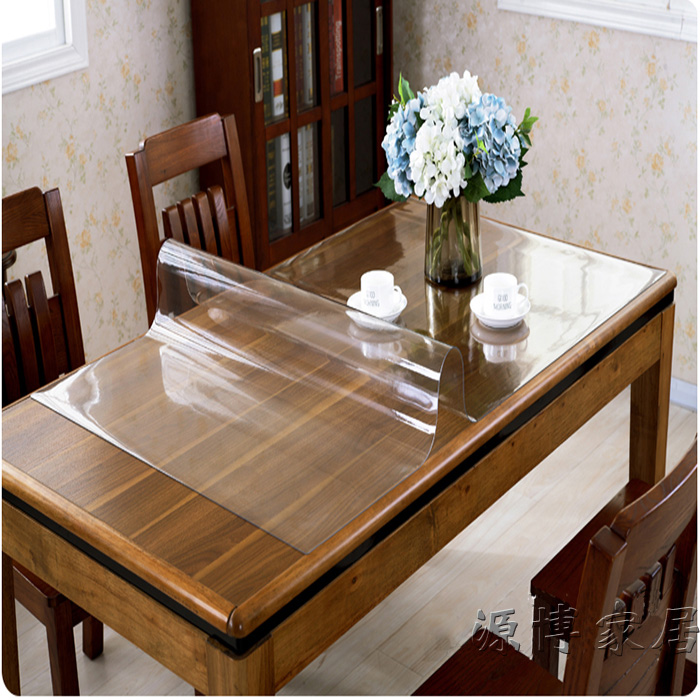 Buy Pvc Transparent Soft Frosted Glass Coffee Table Cloth Tablecloth Table  Tablecloth Thick Waterproof Disposable Plastic Mat Crystal Plate In Cheap  Price ...