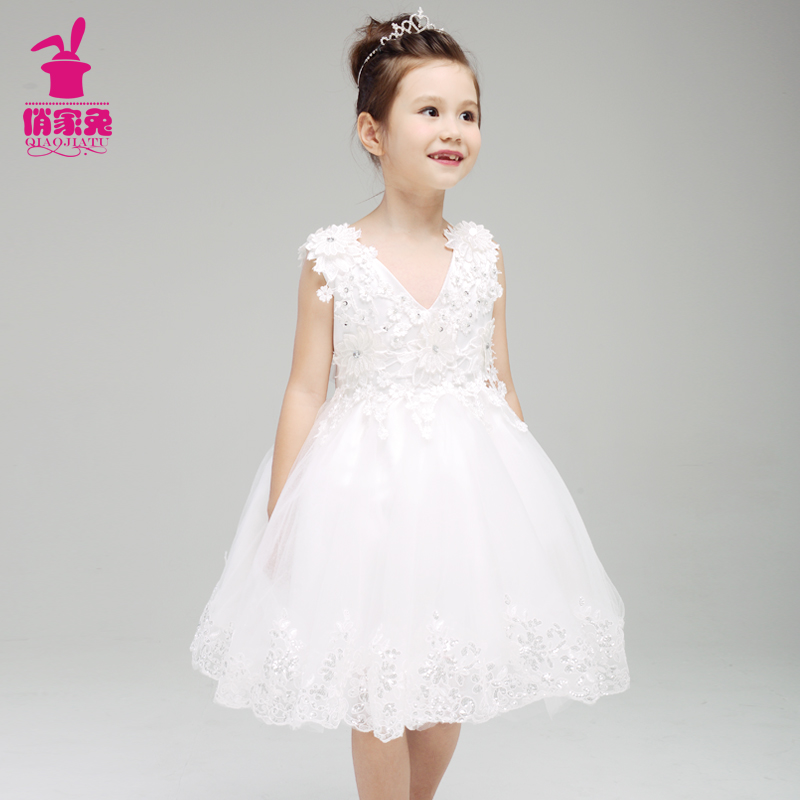 Buy rabbits pretty lace dress white wedding dress children dress buy rabbits pretty lace dress white wedding dress children dress girls princess flower girl dress tutu skirt spring and summer in cheap price on mibaba mightylinksfo