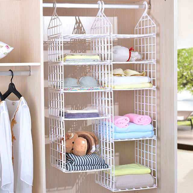 Risa Long Plastic Wardrobe Closet Storage Rack Finishing Frame Dormitory Hanging Clothes Bag Pouch In Price On