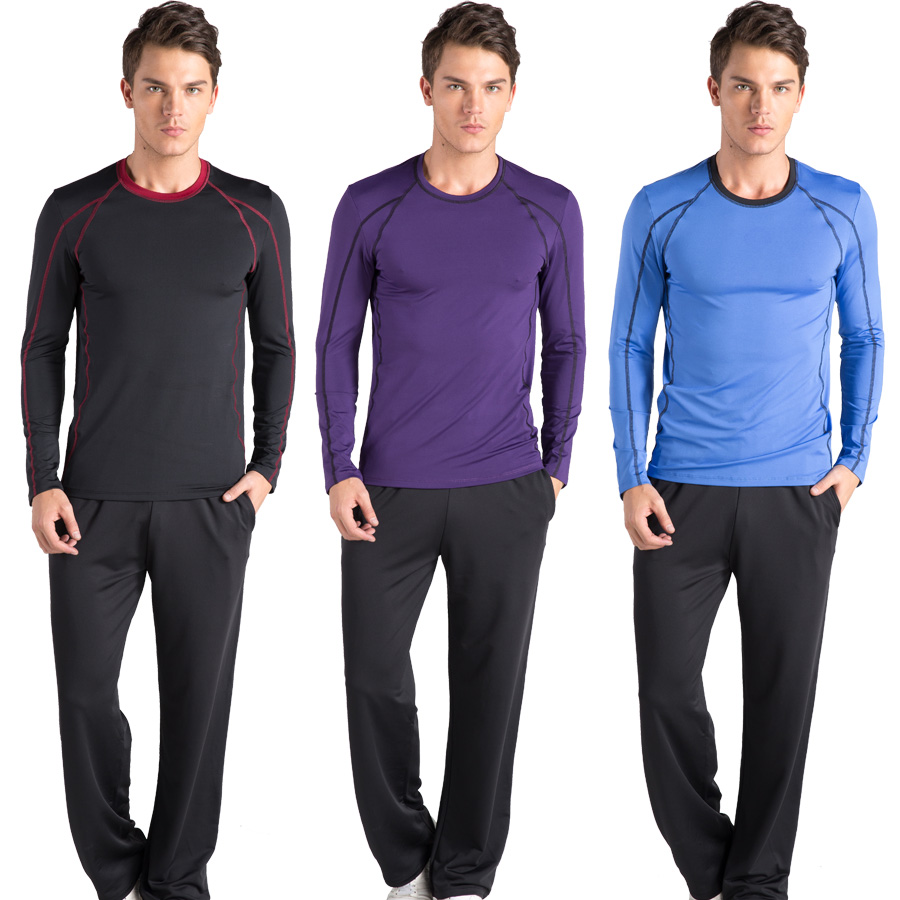40eef4ec3ba4 Buy Road iraqi vatican workout clothes yoga clothing fitness gym sportswear  men long sleeve spring and summer sleeve dress genuine yoga increasingly in  ...