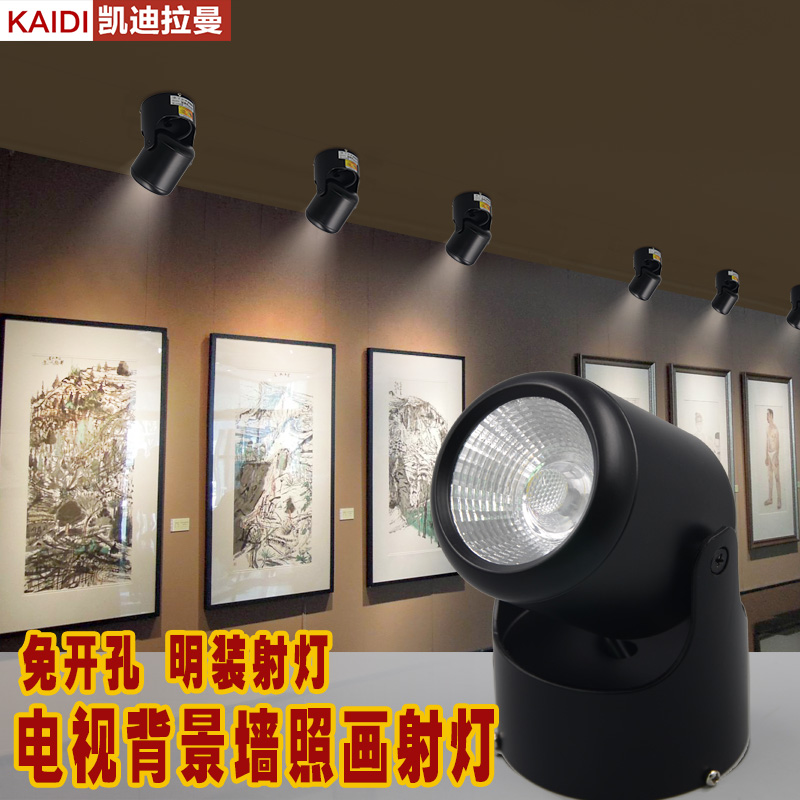 Rotating Spotlights Living Room Ceiling Surface Mounted
