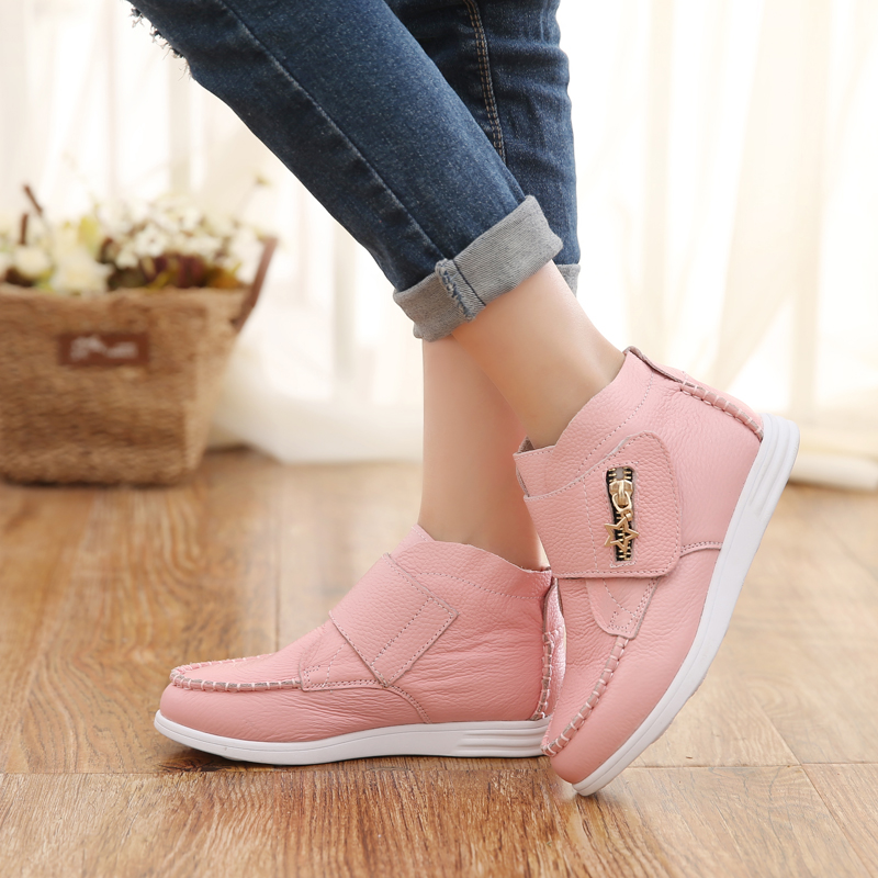 Buy Rubber soft bottom leather shoes female children shoes