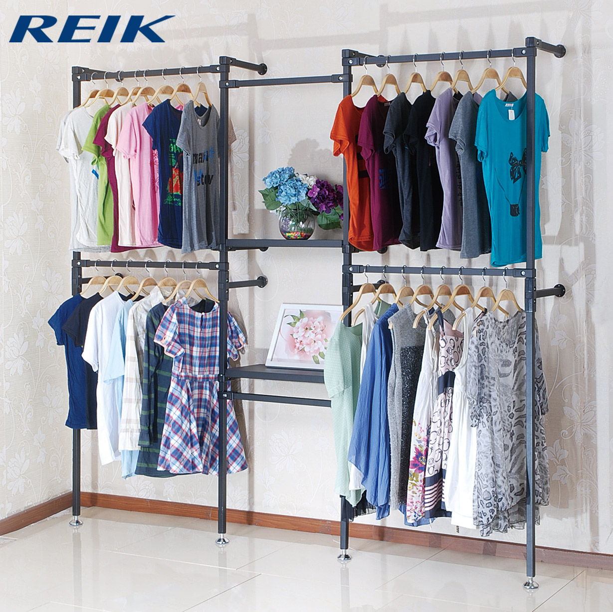 Buy rui grams dual wall shelf display rack clothing clothing rack on the wall clothing display rack clothes rack in cheap price on m alibaba com
