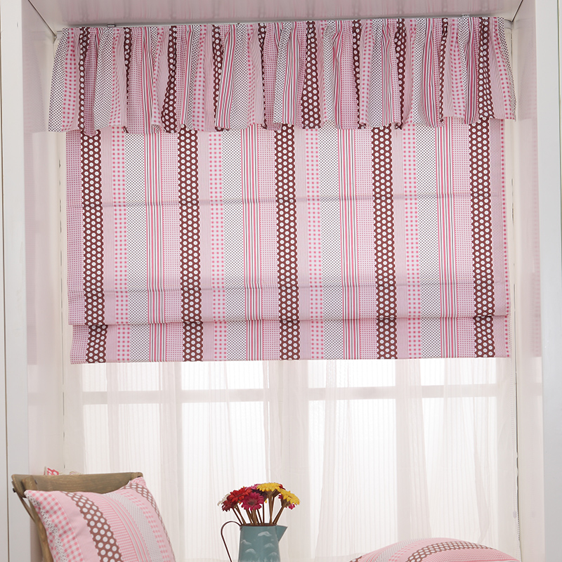 Buy Run out of dorothy pink cotton fabric roman blinds ...