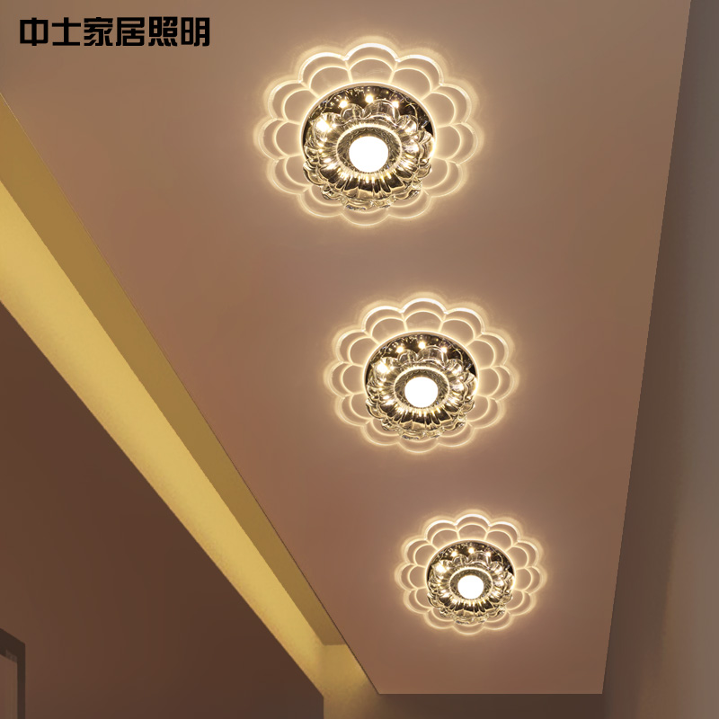Sergeant Crystal Light Led Entrance Lights Aisle Hall Corridor Surface Mounted Ceiling Creative In