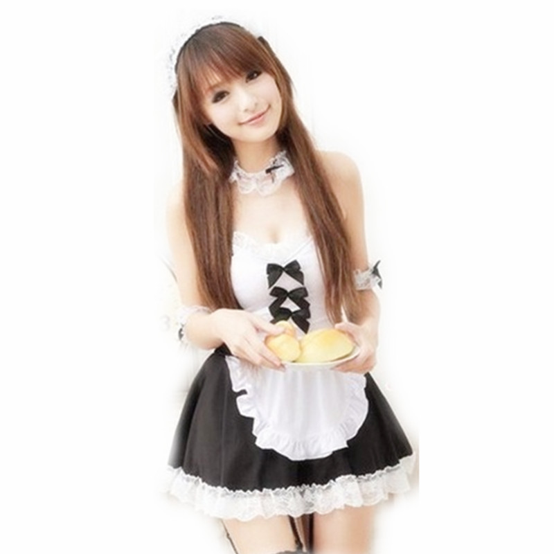 Buy Sexy Black And White Maid Outfit Cosplay Cafe Office Meal