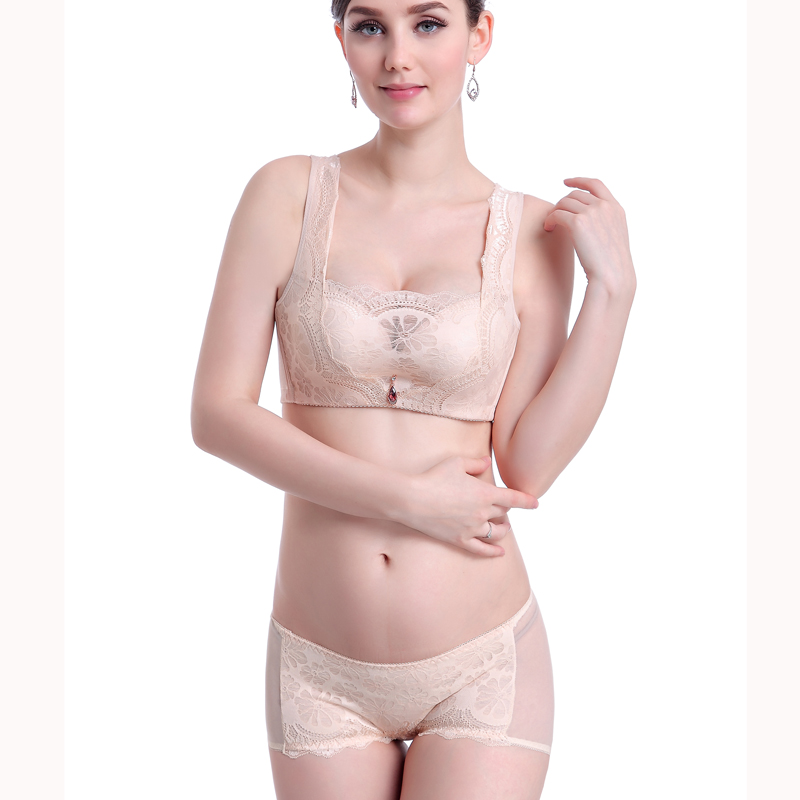 4175794b970 Buy Sexy girls gather close furu adjustable bra small chest thick bra set  underwear without rims anti emptied in Cheap Price on Alibaba.com